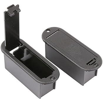 9v battery box case holder for active guitar bass pickup pack of 2 musical. Black Bedroom Furniture Sets. Home Design Ideas