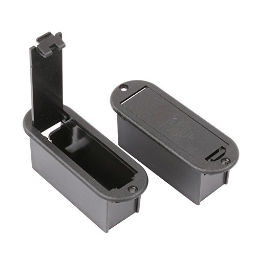 9V Battery Box Case Holder for Active Guitar Bass Pickup (Pack of 2) ()
