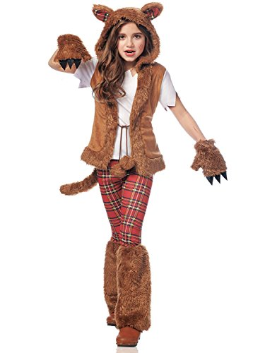 [Costume Culture Women's Howl-O-Ween Girl's Costume, Brown, Large] (Ripped Leggings Costume)