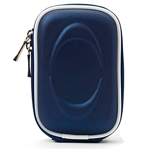 Slim Water Resistant Hardshell EVA Camera Carrying Case for Nikon, Fujifilm, Sony, SJCAM, Canon Blue