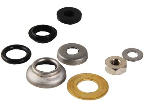 8 Piece Avalon Chicago Faucet Stem Washer Repair Kit with Stainless Steel and Rubber Parts