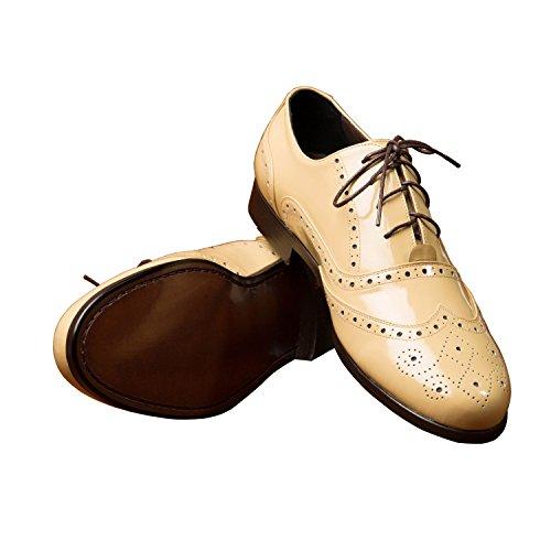 iTailor Mens Handmade Shoes: Dark Cream Wingtip Brogue Shoes Dark Cream hojLDVG