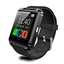 Fanmis U80 Bluetooth 4.0 Smart Wrist Wrap Watch Phone for Smartphones IOS Android Apple iphone 5/5C/5S/6/6 Puls Android Samsung S3/S4/S5 Note 2/Note 3 Note 4 HTC Sony (Black)