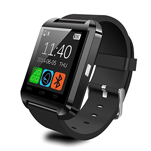 Fanmis Bluetooth Smart Watch Wrist Wrap Watch Phone for IOS Apple Iphone 44s55c5s Android Samsung S2s3s4note 2note 3 HTC Nokia... (Black)