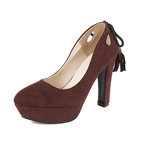 Fashion HeelPump Shoes - Sandalias con cuña mujer granate