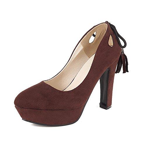 Fashion HeelPump Shoes - Sandalias con cuña mujer granate