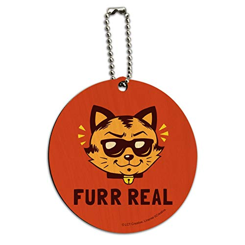 Furr Real Cat For Funny Humor Round Wood -