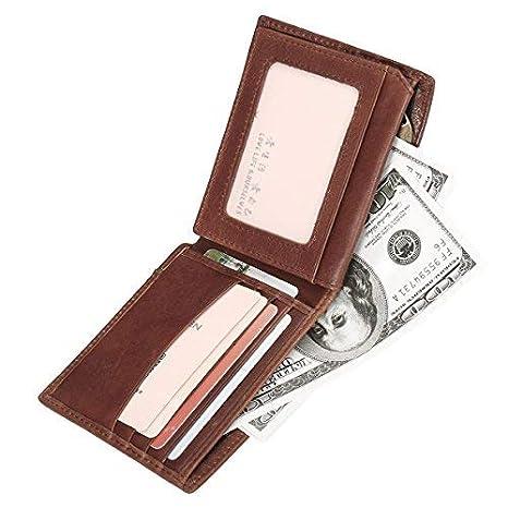 fc595c6ae0 Gracosy RFID Portafoglio uomo in pelle, Portafoglio con RFID protezione carte  di credito Carta Porta
