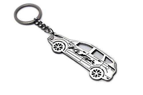 Llavero con anillo para Ford Kuga II Acero Clave Colgante Cadena Diseño de coche Automóvil regalo accesorios Laser Cut Home...