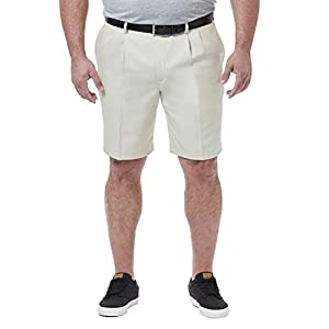 Haggar Men's Big & Tall Cool 18 Pro Pleat Front Short