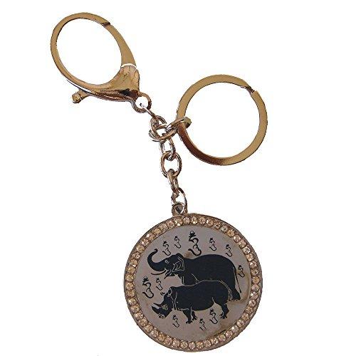 Feng Shui Blue Rhino And Elephant Amulet - Anti-Burglary ()