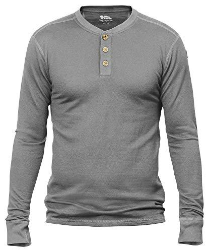 Fjallraven - Men's Lappland Merino Long Sleeve Henley, Grey, XX-Large