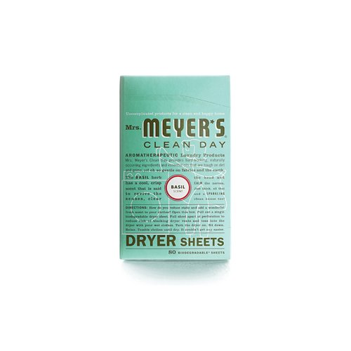 Mrs. Meyer's Dryer Sheets - Basil - Case Of 12 - 80 Sheets by Mrs. Meyers