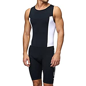Sundried Mens Premium Padded Triathlon Tri Suit Compression Duathlon Running Swimming Cycling Skin Suit