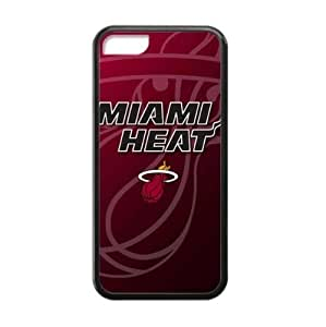 For Iphone 5/5S Case Cover Hard shell Case with Miami Heat team logo-by Allthingsb...