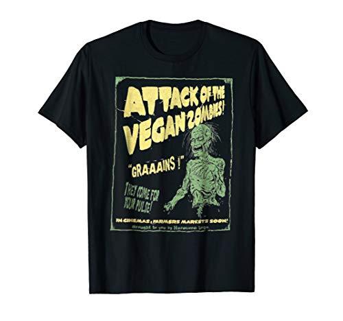 Vegan shirt attack of vegan zombie shirt for vegetarian tee -