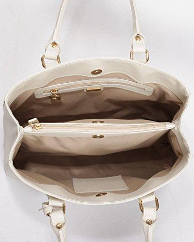 Josephine Osthoff Handtaschen-Manufaktur, Borsa a tracolla donna Beige wollweiß one size