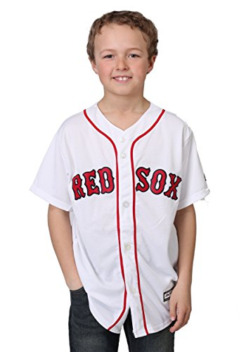 Red Sox Home Replica Blank Back Youth Jersey - M