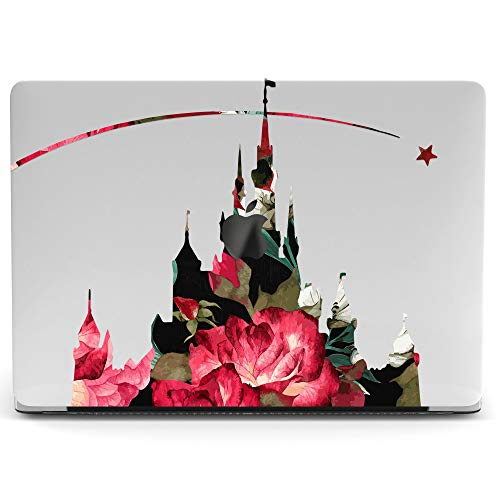 Wonder Wild Mac Retina Cover MacBook Pro 15 inch 12 11 Clear Hard Case Air 13 Apple 2019 Protective Laptop 2018 2017 2016 2015 Plastic Print Touch Bar Cute Rose Castle Disney Floral Abstraction Pink ()