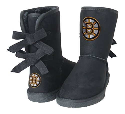NHL Boston Bruins Boys Fan Boot, Size 6, Black by Cuce Shoes