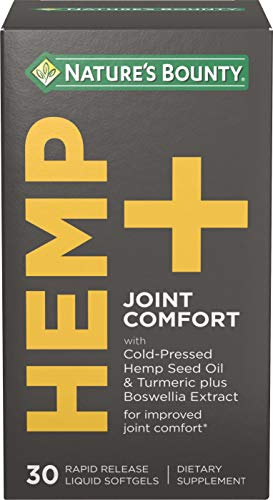 Hemp + Joint Comfort by Nature's Bounty, for Improved Joint Comfort, 30 Rapid Release Liquid Softgels