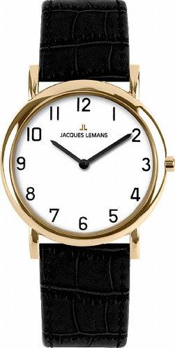 Jacques Lemans Women's Quartz Watch Classic 1-1371F with Leather Strap