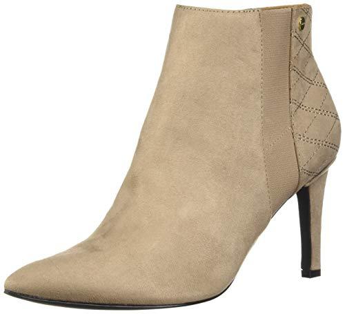- Calvin Klein Women's Bestie Ankle Boot, Tobacco Microsuede, 7.5 M US