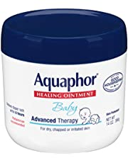 Aquaphor Baby Healing Ointment - Advance Therapy for Diaper Rash, Chapped Cheeks and Minor Scrapes - 14 Oz Jar