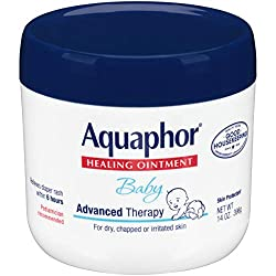 Multi-Purpose Aquaphor Baby Healing Ointment is uniquely formulated to help heal baby's delicate skin. This magic ointment can be used for many of your baby's skin needs, from chapped cheeks to minor scrapes and scratches, to diaper rash and drool ra...