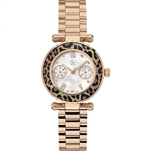 Guess Collection X35015L4S 34mm Stainless Steel Case Rose Gold Gold Plated Stainless Steel Synthetic Sapphire Women's Watch