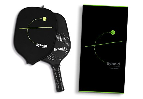 flybold Pickleball Paddle Graphite Face Polymer Honeycomb Core Ultra Cushion Grip Low Profile Edge Guard Perfect Grip Size Light Weight Neoprene Case (Pickleball Paddle) by flybold