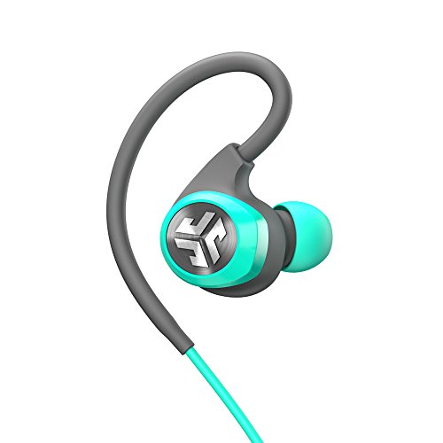 (JLab Audio Epic2 Bluetooth 4.0 Wireless Sport Earbuds, GUARANTEED fitness, waterproof IPX5 rated, skip-free sound, pristine high-performance 8mm sound drivers, 12 hr play time w/ microphone - Teal)