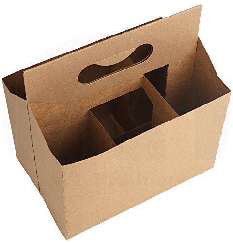 6 Pack Cardboard 12 oz. Beer/Soda Bottle Carrier by MT Products - (10 Pieces) (Kraft)