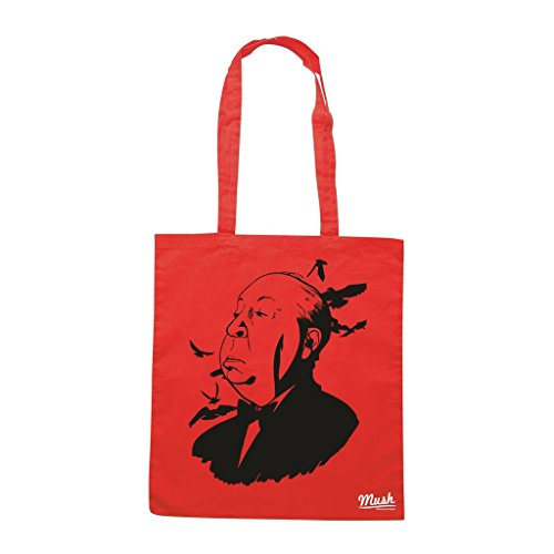 Borsa Alfred Hitchcock Birds - Rossa - Film by Mush Dress Your Style