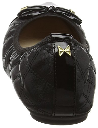 Size Flat Up Womens 6 Holly Ballerina Butterfly Black Twists Quilted Shoes Fold B8wqvg
