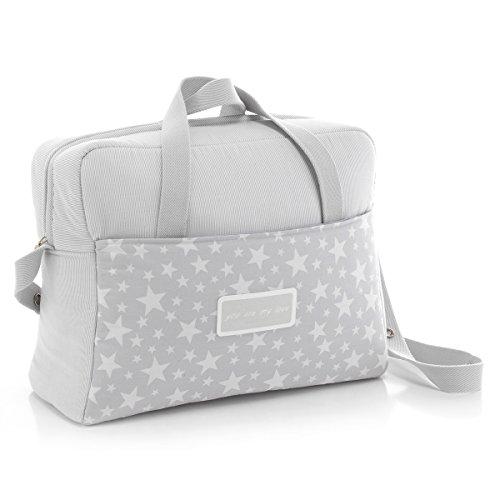 Cambrass Star - Bolso maternal tipo maleta, 32 x 39 x 17 cm color gris Gris