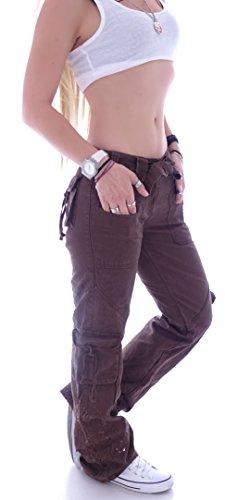 Cargo Dunkelbraun Jeans station Style Donna Ewf4Wq