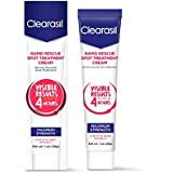 Clearasil Rapid Rescue Acne Spot Treatment Cream 1 ounce, (Pack of 2)