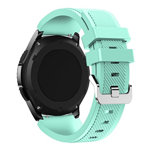 Samsung Gear S3 Frontier Replacement Watch Band, Lookatool Fashion Sports Silicone Bracelet Strap Band For Samsung Gear S3 Frontier (Mint ()
