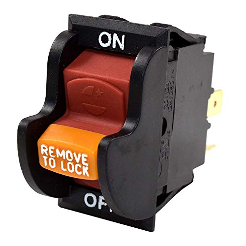 HQRP On-Off Toggle Switch works with Dewalt, Rockwell, Hitachi, Reliant, Performax, Dayton, Jet, Craftsman OR90037 OR9OO37 0R90037 Power Tools Planer Band Saw Drill Press Table Saw Grinder Sander (On Delta Switch Off Saw Table)