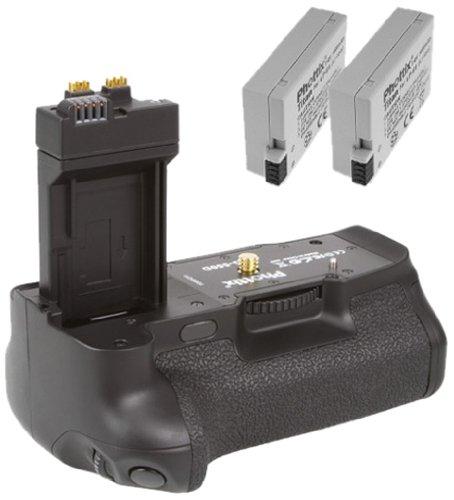 Phottix Batteriegriff + 2 Akkus (für Canon EOS 550D 600D 650D 700D) ersetzt BG-E8 und LP-E8