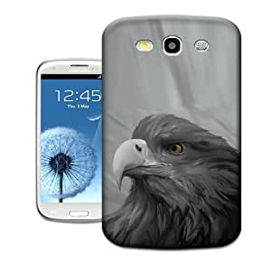Natalie Works Unique Design Gray Eagle Look into Sky TPU Hard Cases for Samsung Galaxy S3 Hot Sell Protective Case