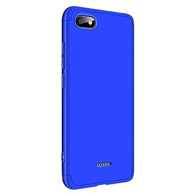 Yimer Funda para Xiaomi Redmi 6A,Carcasa Xiaomi Redmi 6,3 en 1 Slim 360 Grados de Protectora Bumper,A Prueba de Golpes Mate Estuche rígido de PC ...