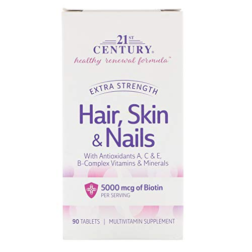 (21st Century, Hair, Skin & Nails, Extra Strength, 90 Tablets)