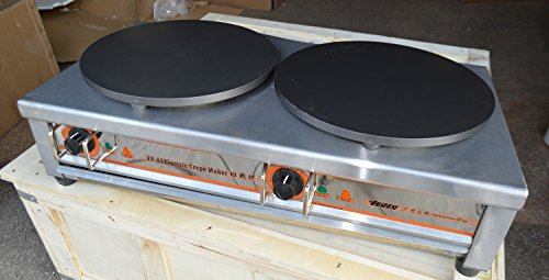 (Techtongda Commercial Pancake Fruit Machine Double Head for Electric 220V 5.5KW)