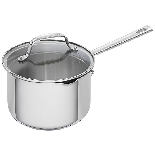 Emeril Lagasse 62956 Stainless Steel Saucepan, 3-Quart, Silver