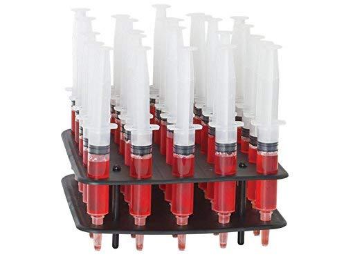 - Jello Syringe Shots for Alcohol, Syringe Set of Jello Shots for Halloween and Parties - 25 Jello Shot Syringes and Rack Combo Kit with Assorted Jello Shot Mix Included (1.5 oz(Medium))