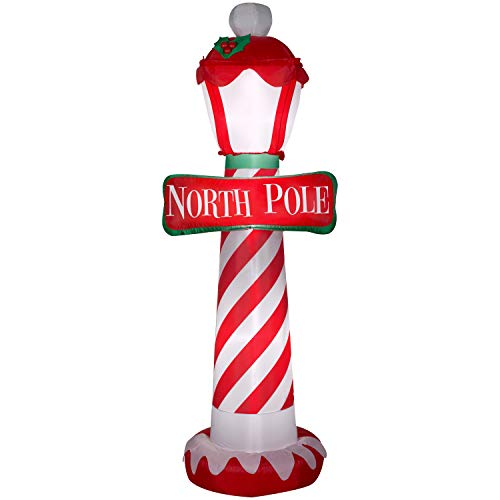 Holiday Time Airblown Inflatable North Pole 7 Ft Tall Outdoor Christmas Yard Decorations