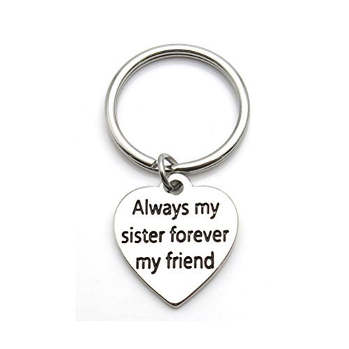 - Always My Sister Forever My Friend Inspirational Quote Keychain BFF Gift Sister Gift