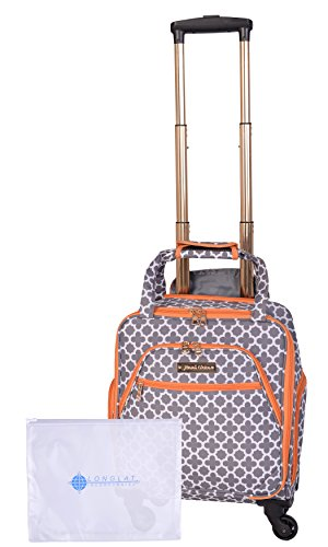 Jenni Chan Medley 2-Piece Set 15'' Spinner 311 Bag Travel Tote, Grey, One Size by Jenni Chan